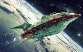 spaceship, planet express, Futurama