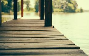 пирс, глубина резкости, деревянная поверхность