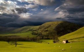 storm, landscape