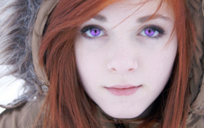 redhead, girl, Adobe Photoshop