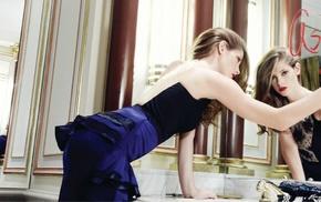 Ashley Greene, lipstick, red lipstick, mirror