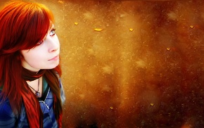 redhead, photo manipulation, girl