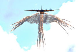 USA, fly, aircraft, sky