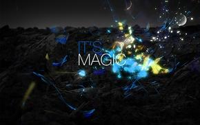 цифровое искусство, селективные раскраски, магия, типография