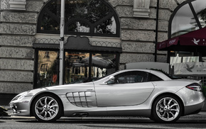 street, Mercedes, cars, building, Mercedes-Benz
