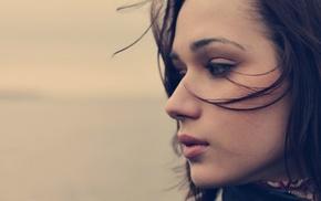 face, brunette, girl, filter