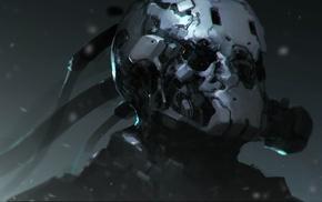 artwork, war, fantasy art, concept art, cyborg, soldier