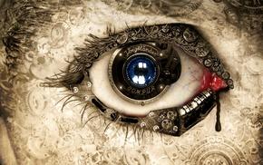 eyes, artwork, concept art, clockwork, fantasy art