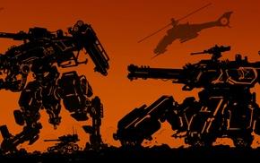 artwork, mech, orange, concept art, fantasy art, robot