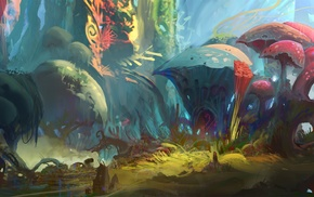 fantasy art, concept art, artwork, nature