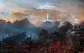 dark templar, Starcraft II, artwork, futuristic, planet, fantasy art