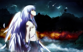 wings, school uniform, Angel Beats, Tachibana Kanade