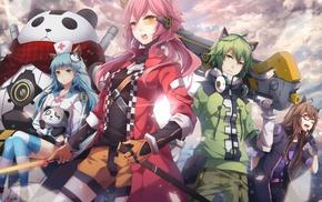 anime girls, animal ears, original characters, nekomimi, anime
