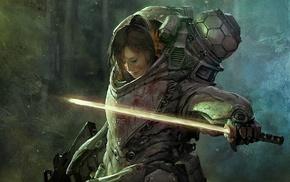 меч, девушка