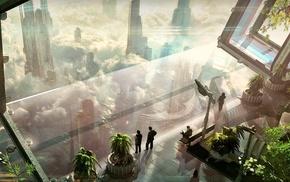 cityscape, futuristic