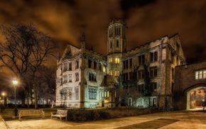castle, USA, night, cities, Chicago