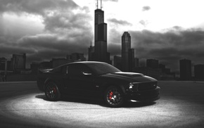 city, black, ford, суперкар, mustang, автомобили