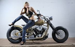 bike, blonde, motorcycles