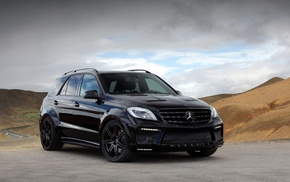 Mercedes, Benz ML 63, car, Mercedes, Benz, black cars