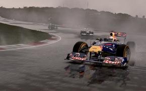 track, rain, Formula 1, sports, racing