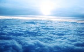 синий, облака