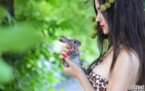girl, Russian girl, Turkey, rabbits, curvy girl, animal print