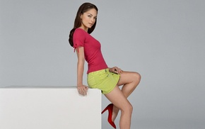model, Kristin Kreuk, girl, skirt, brunette