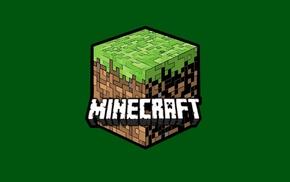 Minecraft, куб, минимализм