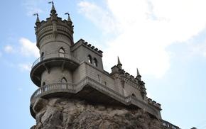 дворец, юбк, ялта, ласточкино гнездо, небо, красивые
