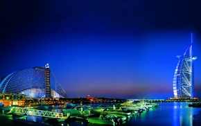 Dubai, city, cities, sea, evening