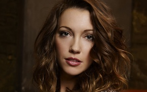 girl, face, brunette, Katie Cassidy