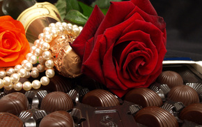 flowers, chocolate, stunner
