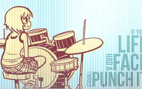 quote, Scott Pilgrim, drums, anime girls