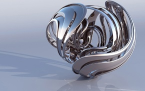 metal, reflection, 3D, figure