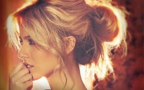 girl, blonde, model, Petra Nemcova, portrait