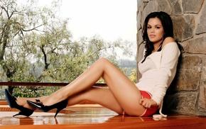 Rachel Bilson, legs, black hair, girl, heels