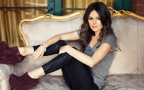 actress, leather pants, Rachel Bilson, black pants, girl, celebrity