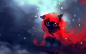 Apofiss, artwork, anime, cat