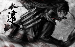 fan art, Uchiha Madara, daggers, anime boys, artwork, Naruto Shippuuden