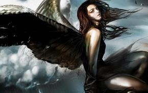 fantasy art, wings