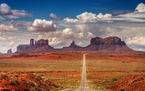дикий запад, красивые, горы, небо, скалы, облака