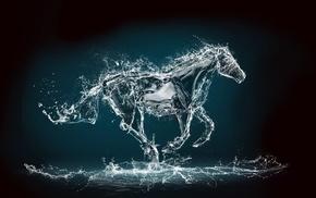 water, horse, photoshop, art, stunner