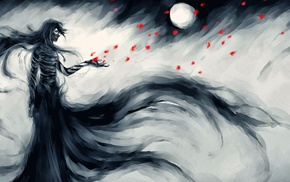 NanFe, Mugetsu, fan art, Bleach, petals, bandage