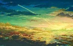 digital art, sky, clouds, colorful, artwork