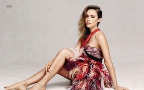 Джессика Альба, босиком, ноги, девушка, знаменитость