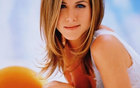 cleavage, girl, Jennifer Aniston, actress, blonde