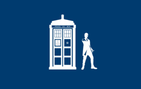 Peter Capaldi, Doctor Who, TARDIS, simple background, The Doctor