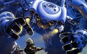 robot, mech, fantasy art, artwork, concept art