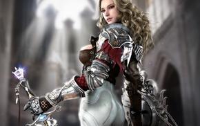 art, girl, fantasy, sword