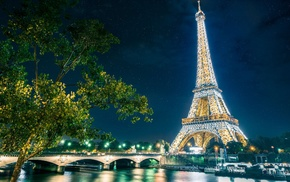 embankment, bridge, Paris, cities, France